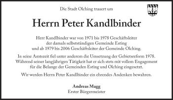 Zur Gedenkseite von Peter Kandlbinder