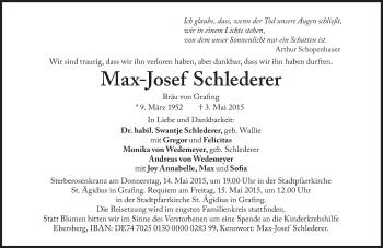 Zur Gedenkseite von Max-Josef Schlederer