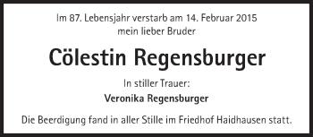 Zur Gedenkseite von Cölestin Regensburger