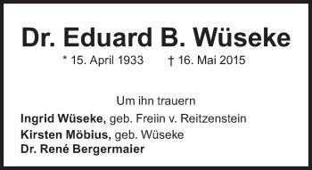 Zur Gedenkseite von Eduard B. Wüseke