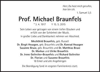 Zur Gedenkseite von Michael Braunfels