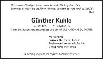 Zur Gedenkseite von Günther Kuhlo
