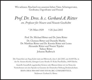 Zur Gedenkseite von Gerhard Ritter