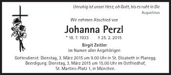 Zur Gedenkseite von Johanna Perzl