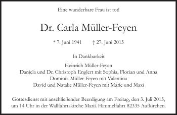 Zur Gedenkseite von Carla Müller-Feyen