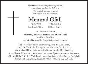 Zur Gedenkseite von Meinrad Gfall