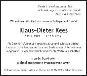 Zur Gedenkseite von Klaus-Dieter Kees