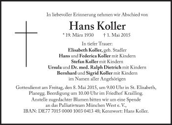 Zur Gedenkseite von Hans Koller
