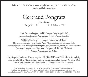 Zur Gedenkseite von Gertraud Pongratz