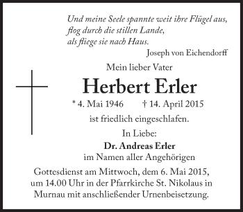Zur Gedenkseite von Herbert Erler