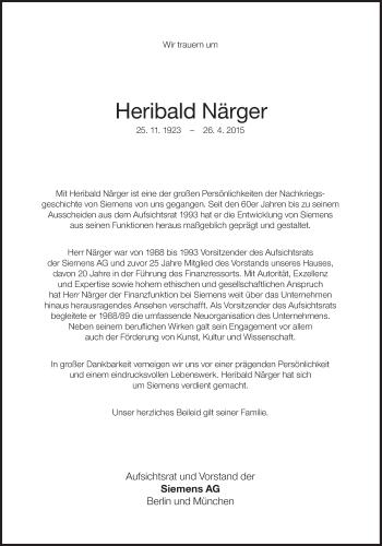 Zur Gedenkseite von Heribald Närger